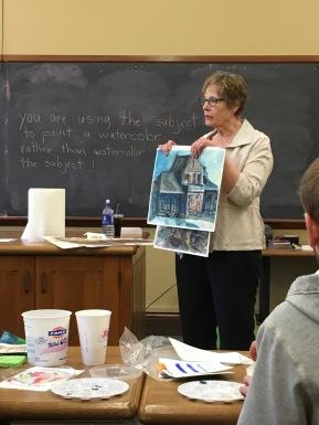 Charlotte teaching.