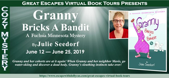 @julieseedorf @dollycas ~ Guest Post Spotlight Tour/#Giveaway ~ Granny Bricks A Bandit by Julie Seedorf