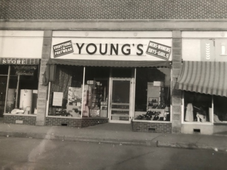 My dad's shoe store in the 50's